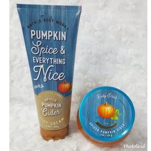 Bath & Body Works Spiced Pumpkin Cider Cream Scrub